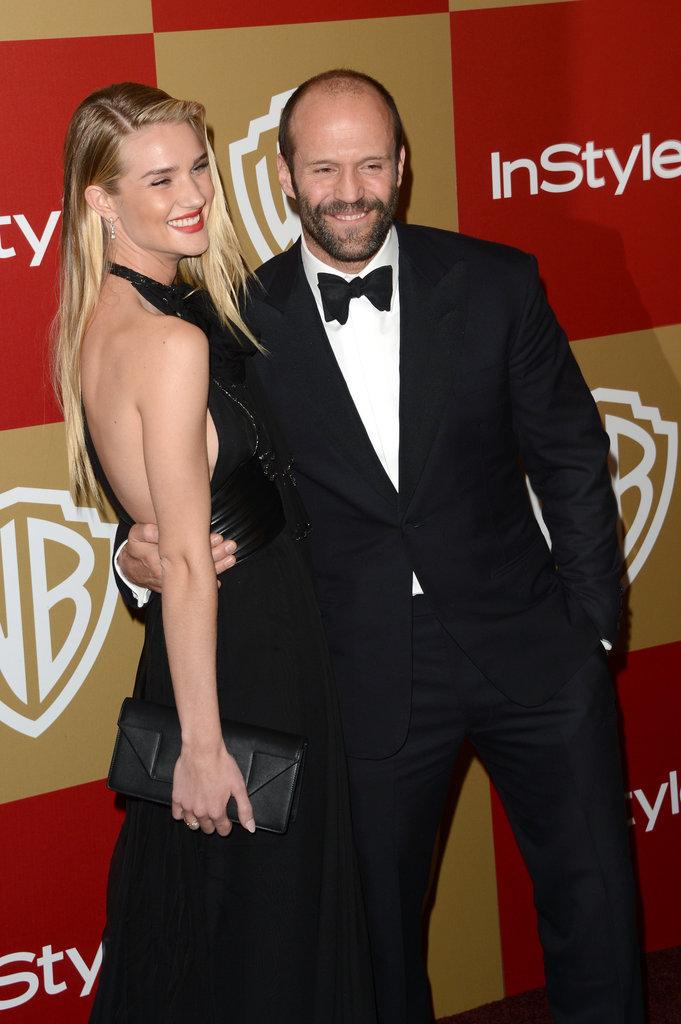 Jason Statham and Rosie Huntington-Whiteley coupled up.
