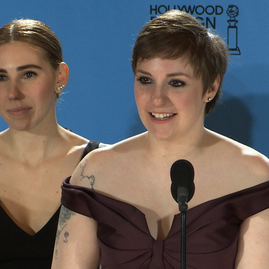 Lena Dunham 2013 Golden Globes Press Room Interview Video