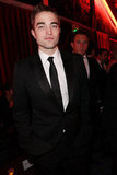 Robert Pattinson suited up for The Weinstein Company' bash.