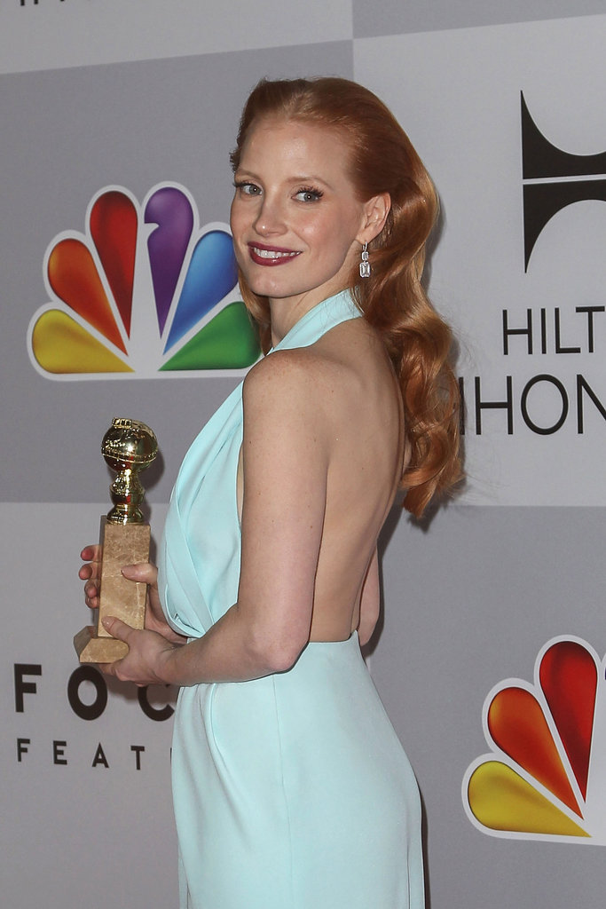 Jessica Chastain went with a backless dress.