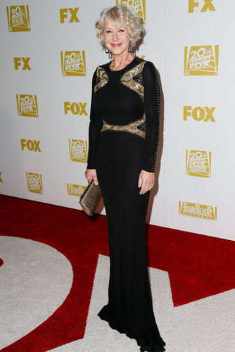 Helen Mirren smiled at the Fox after party.
