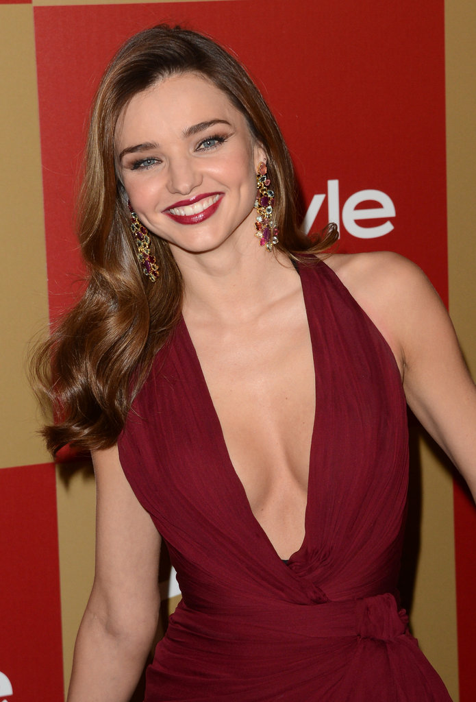 Miranda Kerr let her hair down.
