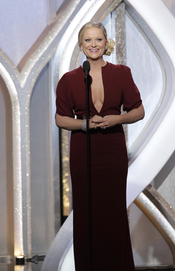 Amy Poehler cohosted the Golden Globes with Tina Fey.