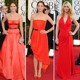 Red Dresses at Golden Globes 2013 | Pictures