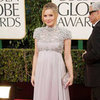 Kristen Bell's Greek Goddess Golden Globes Maternity Style