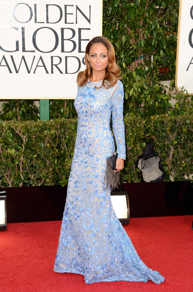 Nicole Richie Dresses For the Cold Golden Globes
