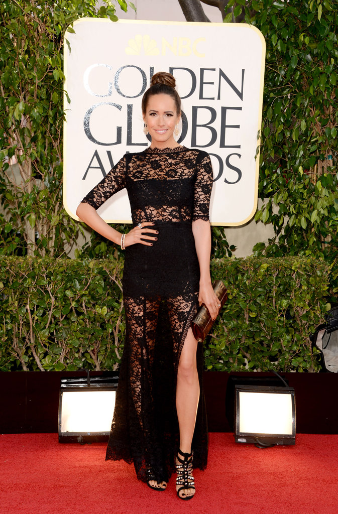 Louise Roe showed some leg in this lacy number.