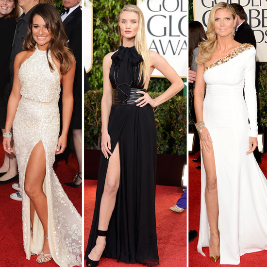 Celebrities Wear Thigh High Splits to the 2013 Golden Globes