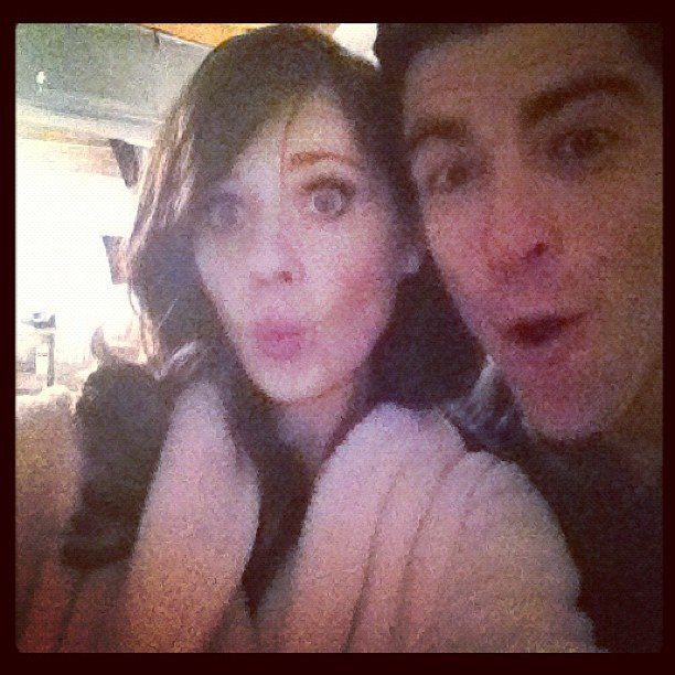 Golden Globe nominees Zooey Deschanel and Max Greenfield posed together, New Girl-style. Source: Instagram user zooeydeschanel