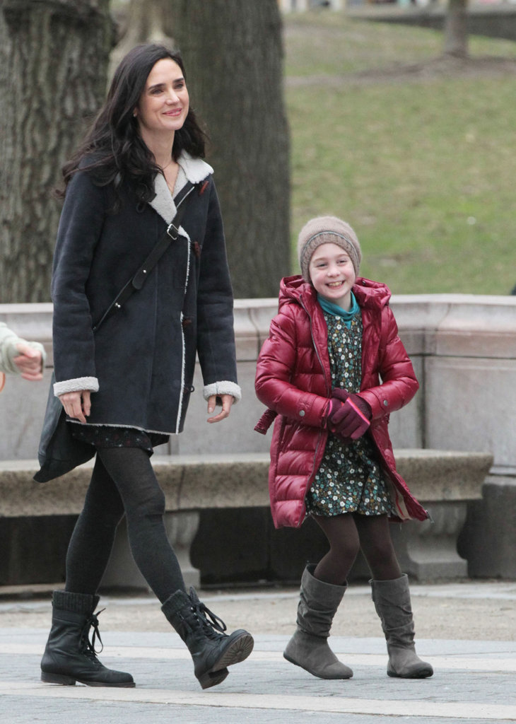 Jennifer Connelly filmed a scene with a child actor for Winter's Tale.