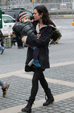 Jennifer Connelly had her daughter on set in NYC.