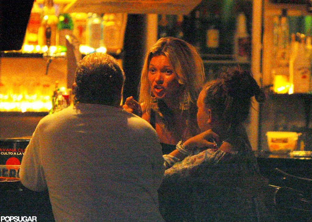 Kate was snapped having a drink at an Ibiza bar during September 2008.