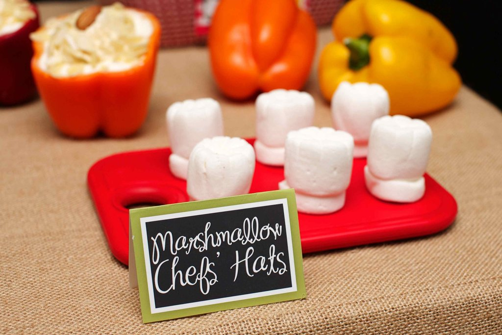 Marshmallow Chef's Hats