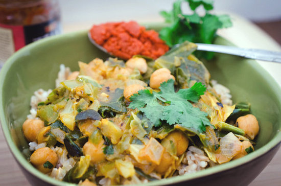 Red Curry Coconut Cabbage
