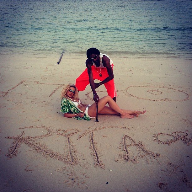 Rita Ora hit the beach with Snoop Dogg. Source: Instagram user ritaora