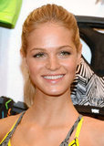Erin Heatherton showed off her smile at Victoria's Secret in NYC.