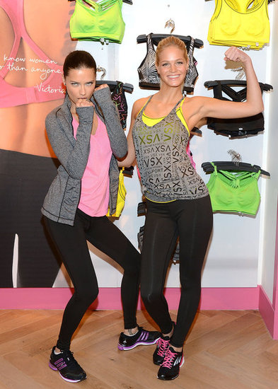 Adriana Lima and Erin Heatherton showed off their muscles.