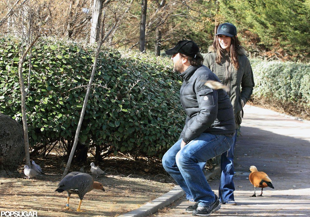 Penélope Cruz and Javier Bardem spent time together at a park in Madrid.