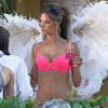 Alessandra Ambrosio Wears a Bra and Wings in Miami