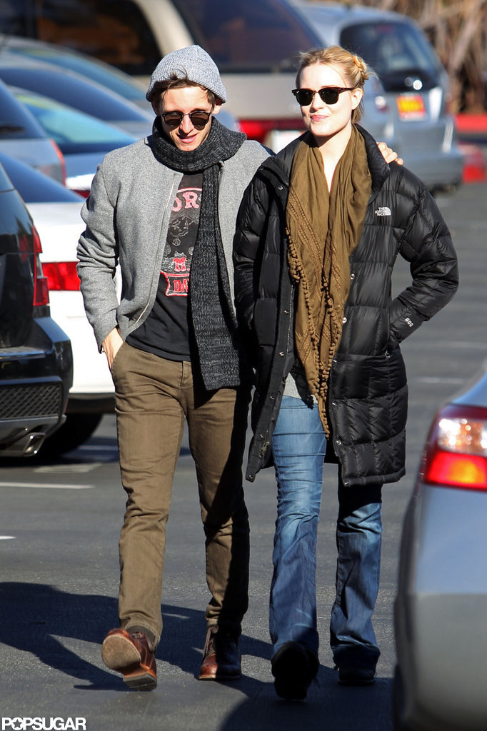 Jamie Bell wore a knit cap.