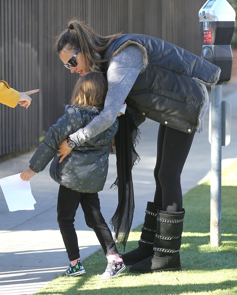 Alessandra Ambrosio had an outing with daughter Anja in LA.