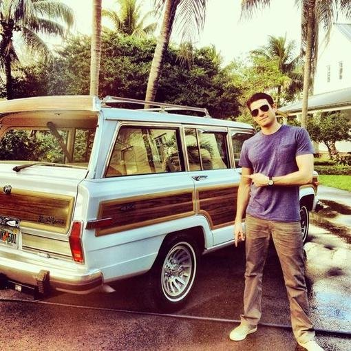 Bryan Greenberg showed off his new ride. Source: Twitter user bryangreenberg