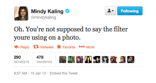 Mindy Kaling made an Instagram foul.