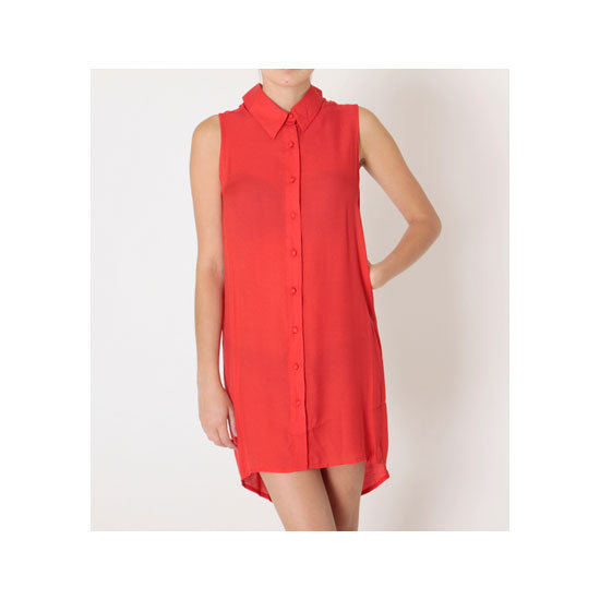 If I'm going to get into red, I may as well take the plunge in a bright attention-seeking shirt dress . . . — Jess, PopSugar editor Shirt dress, $60, The Casette Societ at General Pants
