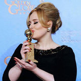 Copy Adele's Pointy Gold Nails at the Golden Globes