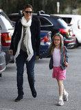 Jennifer Garner smiled on a trip to the park with Violet Affleck.