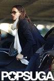 Jennifer Garner got out of her car for errands in LA.