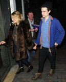 Sienna Miller and Tom Sturridge were hand in hand on the way into the No Quarter press night in London.