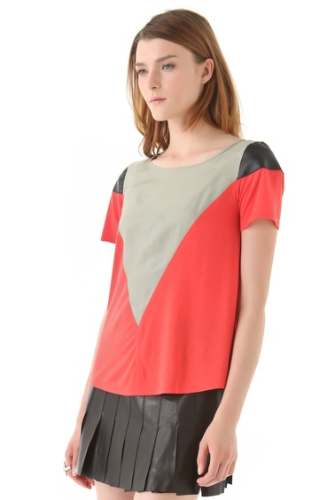 Aiko's June B colorblock top ($48, originally $158) will add a splash of color to your cold weather neutrals.
