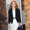 Jessica Chastain at The Daily Show in Black and White Video