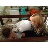Lil Skyler Berman had a surprise visitor in his crib — mama Rachel Zoe! Source: Instagram user rachelzoe