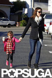 Seraphina Affleck accompanied mom Jennifer Garner for a coffee stop in LA.