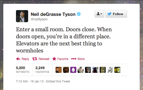 StarTalk Radio host Neil deGrasse Tyson comes up with the greatest analogies of the inner workings of the universe.