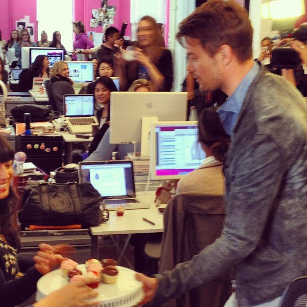 Just a normal day at the San Francisco office . . . Josh Duhamel surprised us all (and brought cupcakes)!