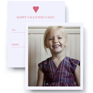 Photo Valentine's Day Cards For Kids