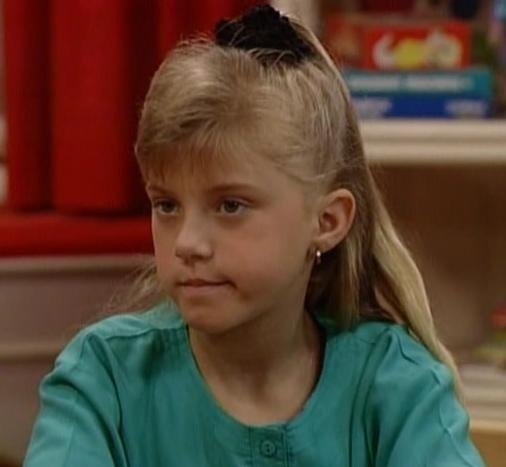 "Steph: ""Michelle, you are old enough to hear this . . . How rude!"" Michelle: [To Uncle Jesse] ""Why does she always say that?"""
