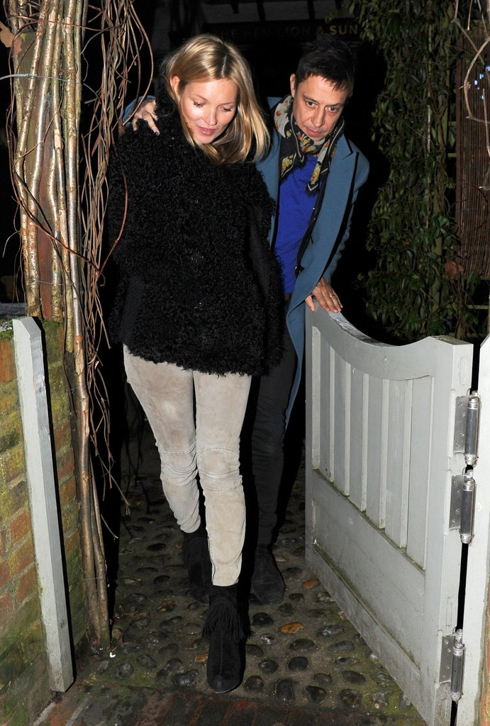 Kate Moss celebrated her 39th birthday on January 16 with a London pub dinner with her husband Jamie Hince