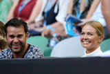 Spotted at the Australia Open in Melbourne: Lara Bingle and a friend, watching the men's second round match on January 17.