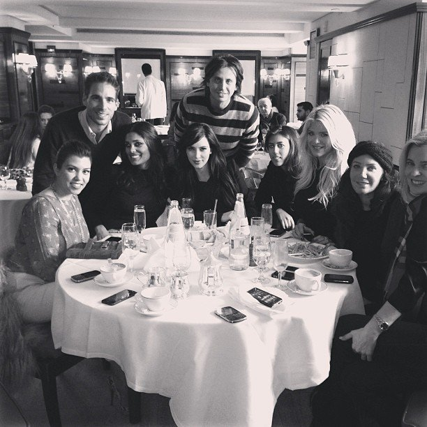 The Kardashian klan (and a few extras) smiled for the camera. Source: Instagram user kimkardashian