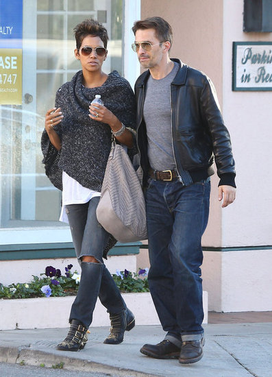 Halle Berry and Olivier Martinez walked together in Santa Monica.