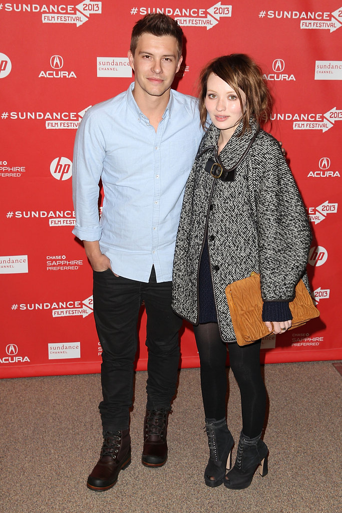 Xavier Samuel and Emily Browning at the Sundance Film Festival on Friday.