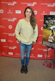 Keri Russell attended the premiere of her latest project Austenland, donning a pair of distressed jeans, oversize sweater, and rugged ankle boots.