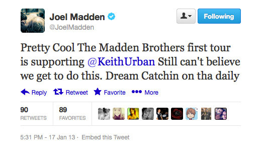 "Joel Madden appreciates life ""on tha daily""."