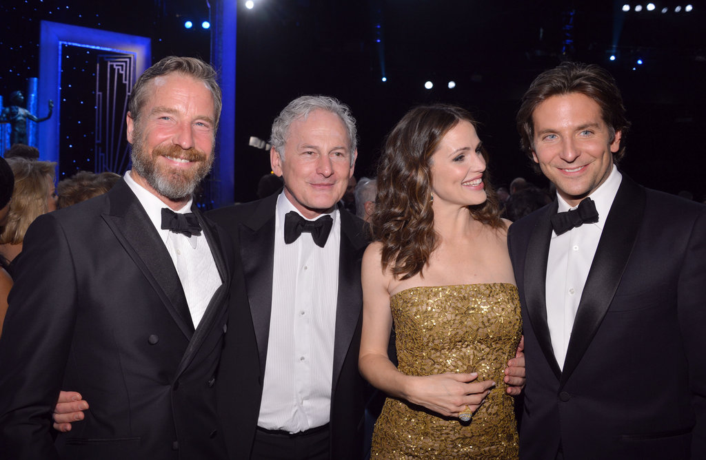 Jennifer Garner and Bradley Cooper met up with Victor Garber and his partner, Rainer Andreesen.