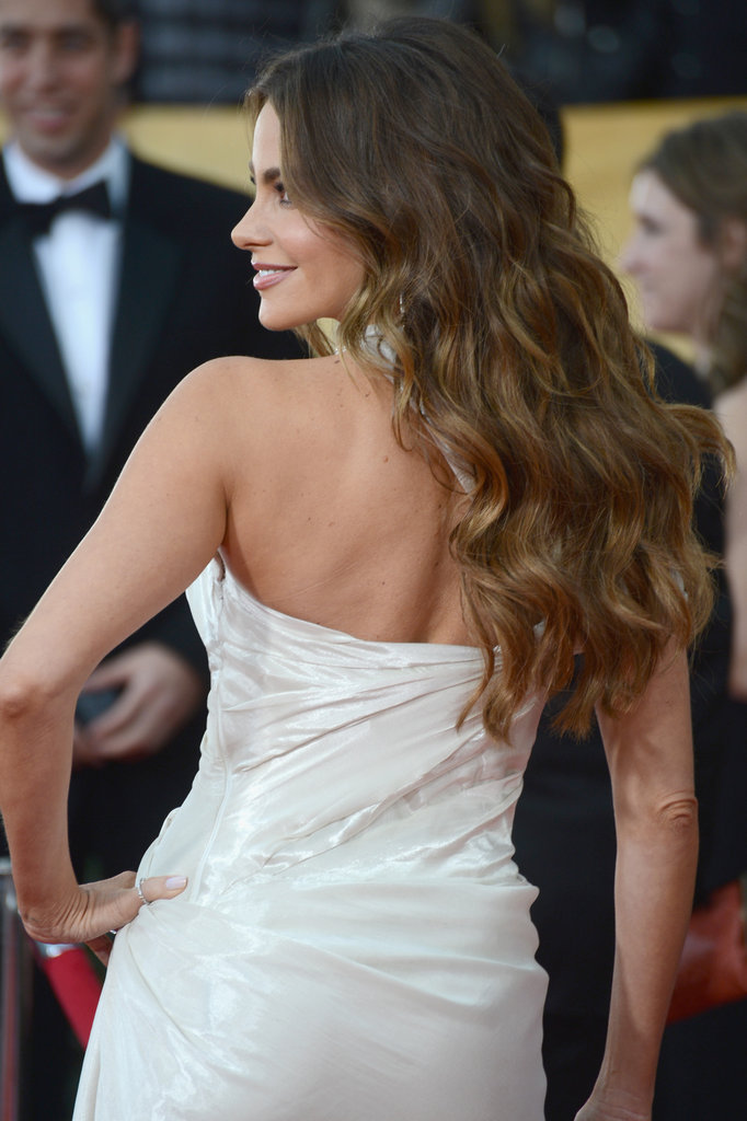 Sofia Vergara's wavy locks looked flawless Sunday night at the SAG Awards.