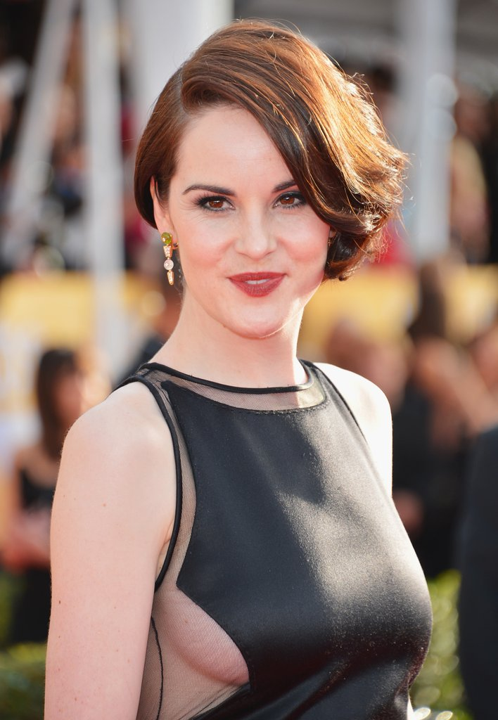 Michelle Dockery posed on the red carpet at the SAGs.